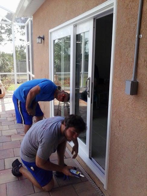 Installers Jon Amp Brandon Installing A Pgt Sliding Glass