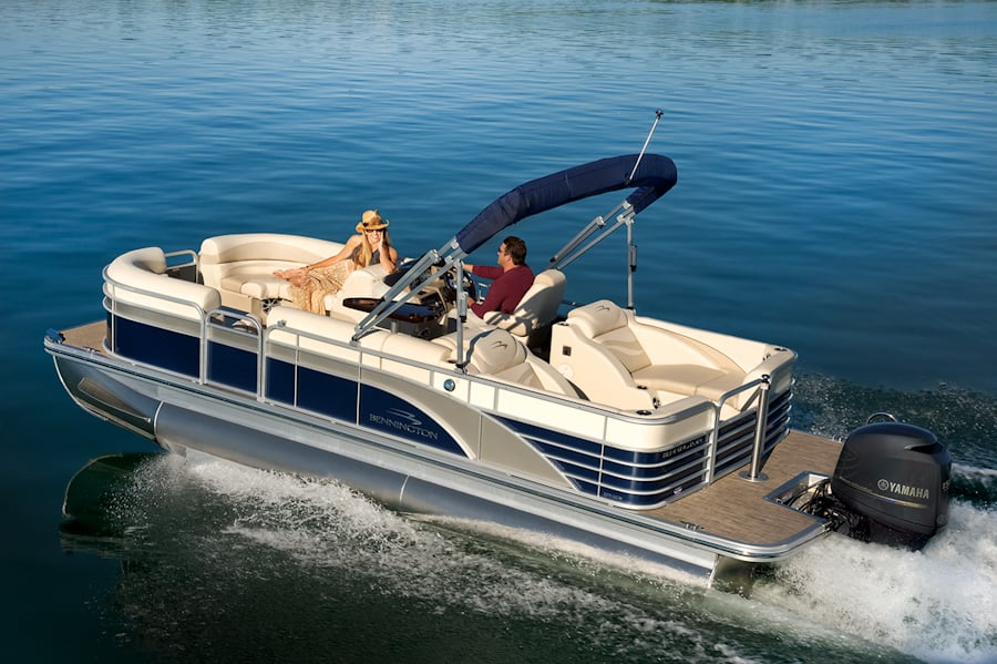 Our new luxury 24' Bennington RCW tritoon boat! - Yelp