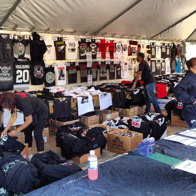 Photo of Echo Beach - Toronto ON Canada. Rancid merch tent at Echo & Rancid merch tent at Echo Beach - Yelp