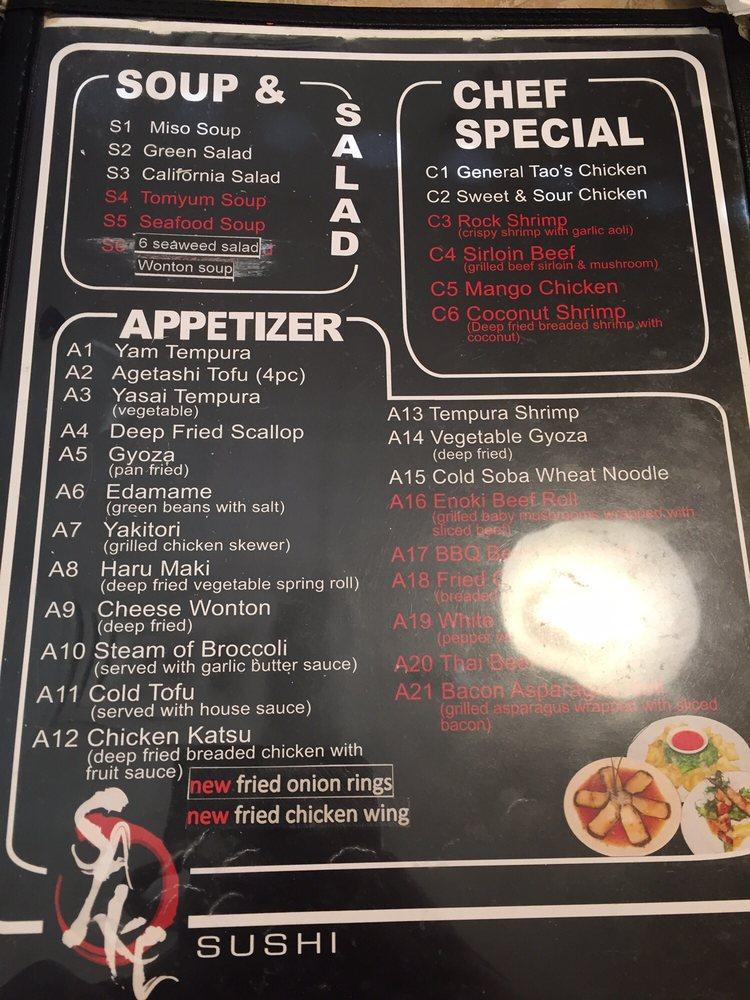 Sake Sushi: 2080 Wyandotte Street W, Windsor, ON