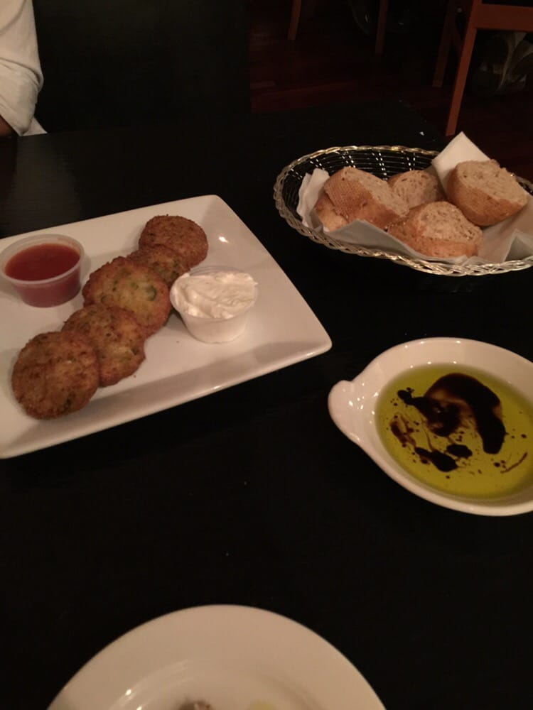 Kolokithokftdes zucchini fitters delicious yelp for Ammos authentic greek cuisine
