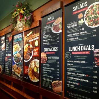Sizzler lunch menu is one of the most various that you can find around. Salad bar performs the different kinds of salads based on your own preferences + soups you wish and some pastas.