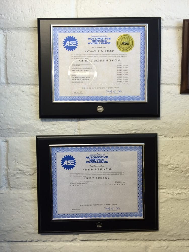 Ase Certified Master Auto Tech Ase Certified Service Consultant Ase