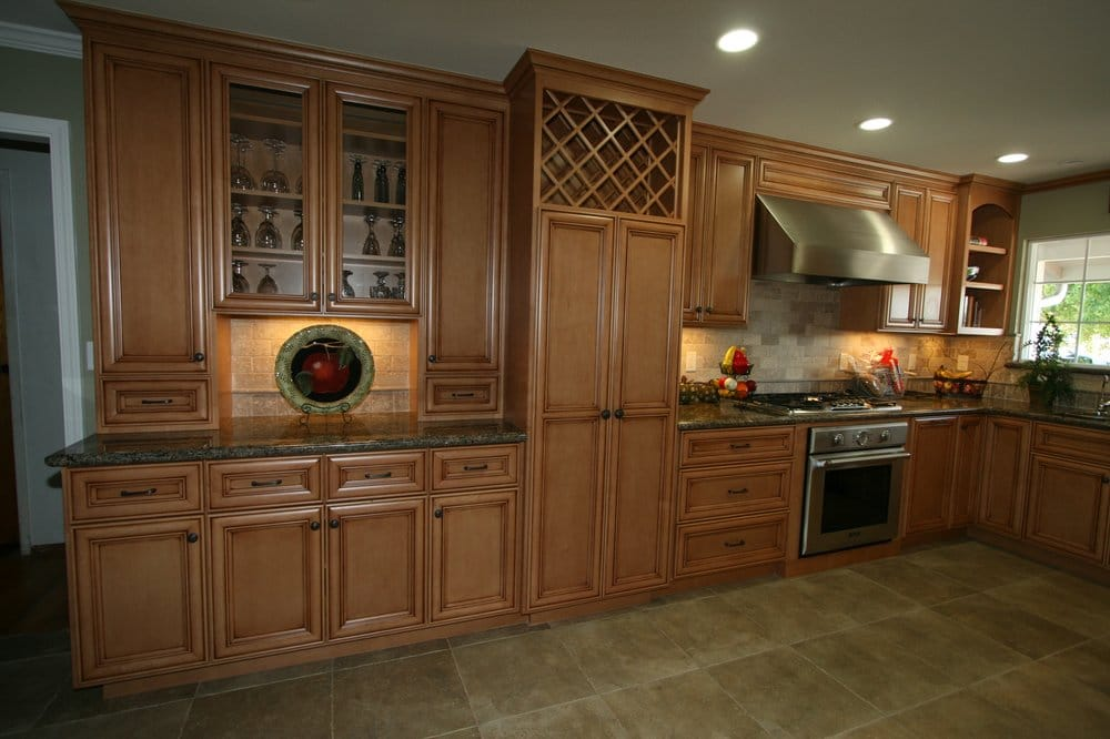 Maple Cabinets W Light Java Stain Amp Glaze Yelp