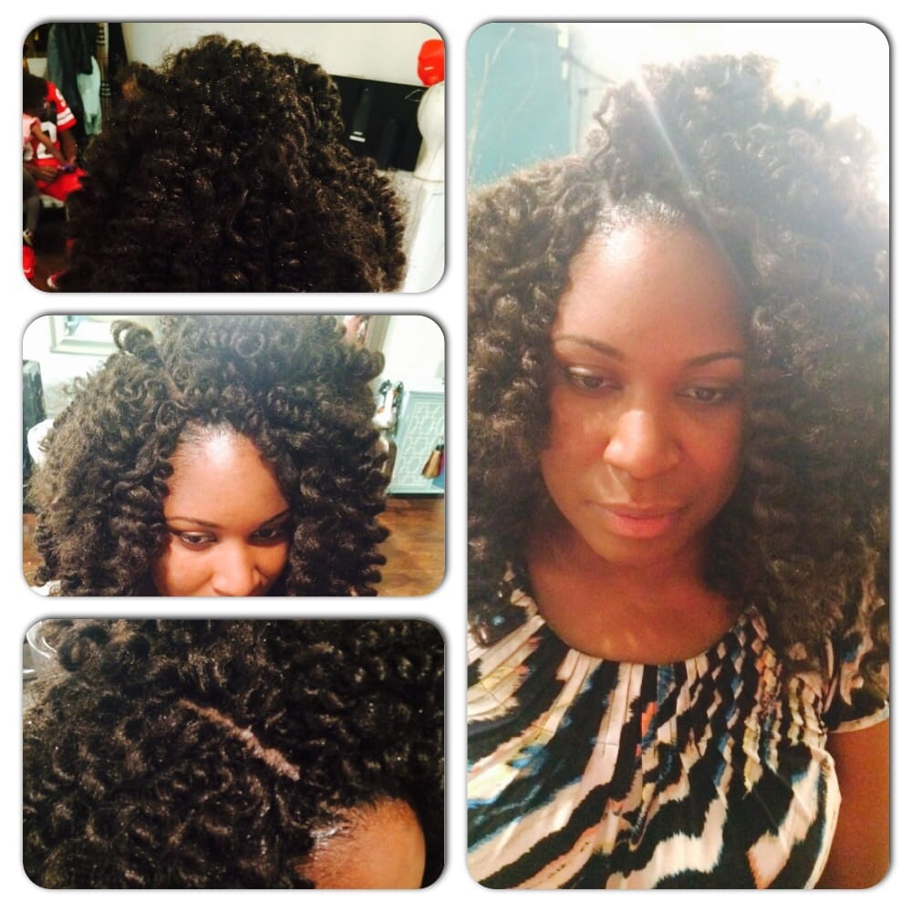 ... Crochet braids pre rodded with invisible part no leave out using