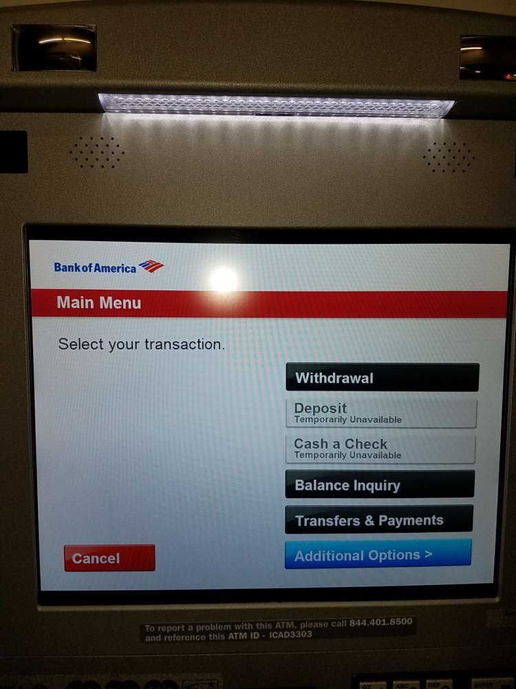 bank of america maximum atm check deposit