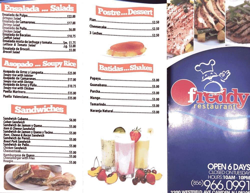 Freddy s restaurant 28 photos 32 reviews spanish for Atlantic fish menu
