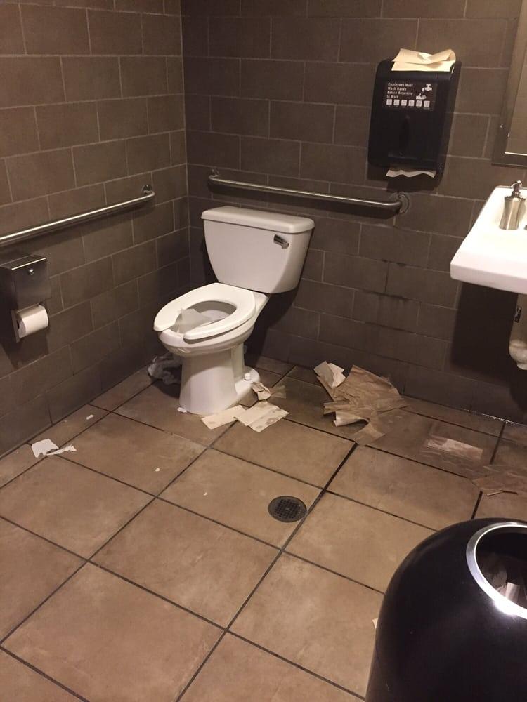 Disgusting Bathroom Appearance.