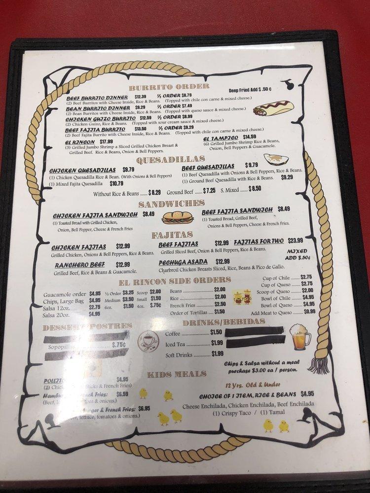 El Rincon Mexican Restaurant: 209 W US Hwy 80, White Oak, TX