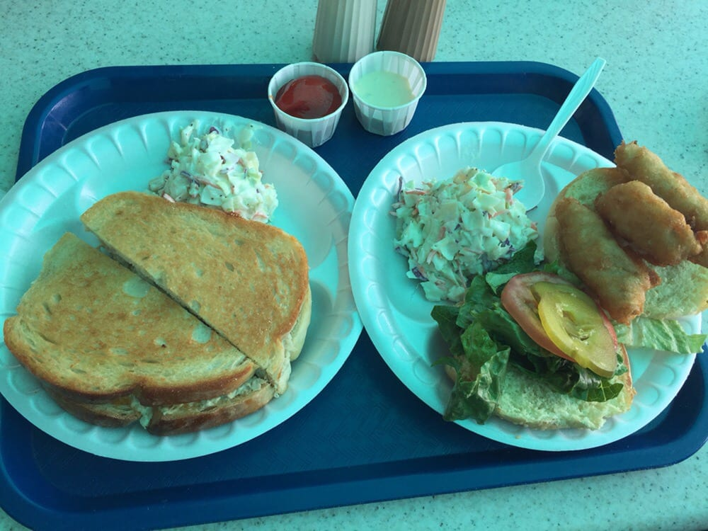 Grilled tuna cheese melt and fried fish sandwich yelp for Fried fish sandwich near me