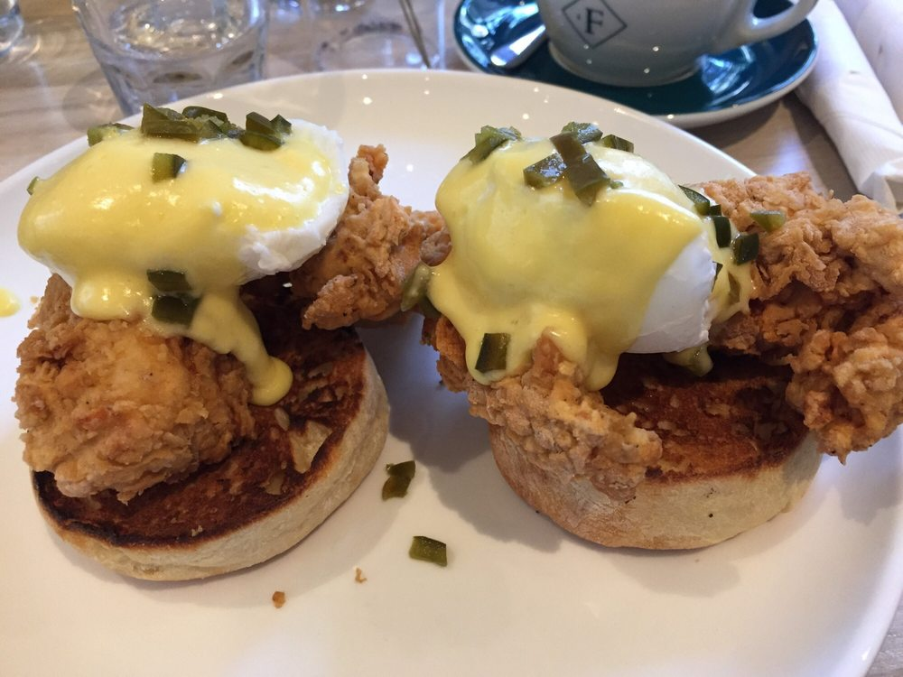 Image result for forthright austin chicken eggs benedict