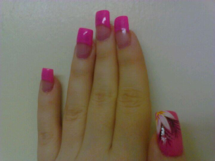 Photo Of Ten Fabulous Nails San Leandro Ca United States Hot Pink