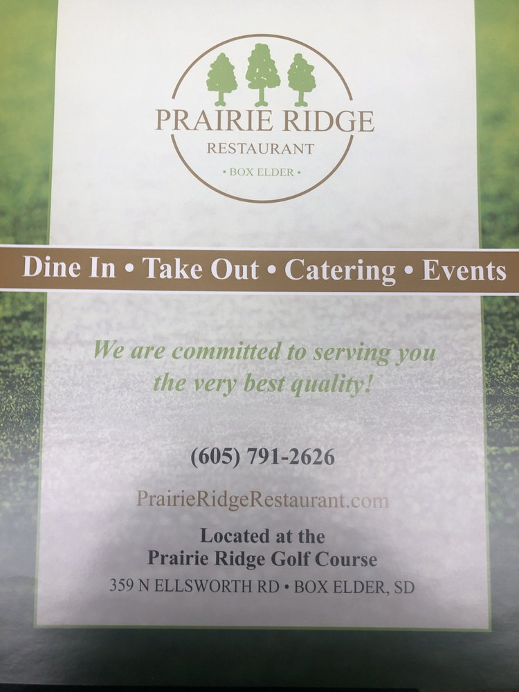 Prairie Ridge Restaurant: 359 N Ellsworth Rd, Box Elder, SD
