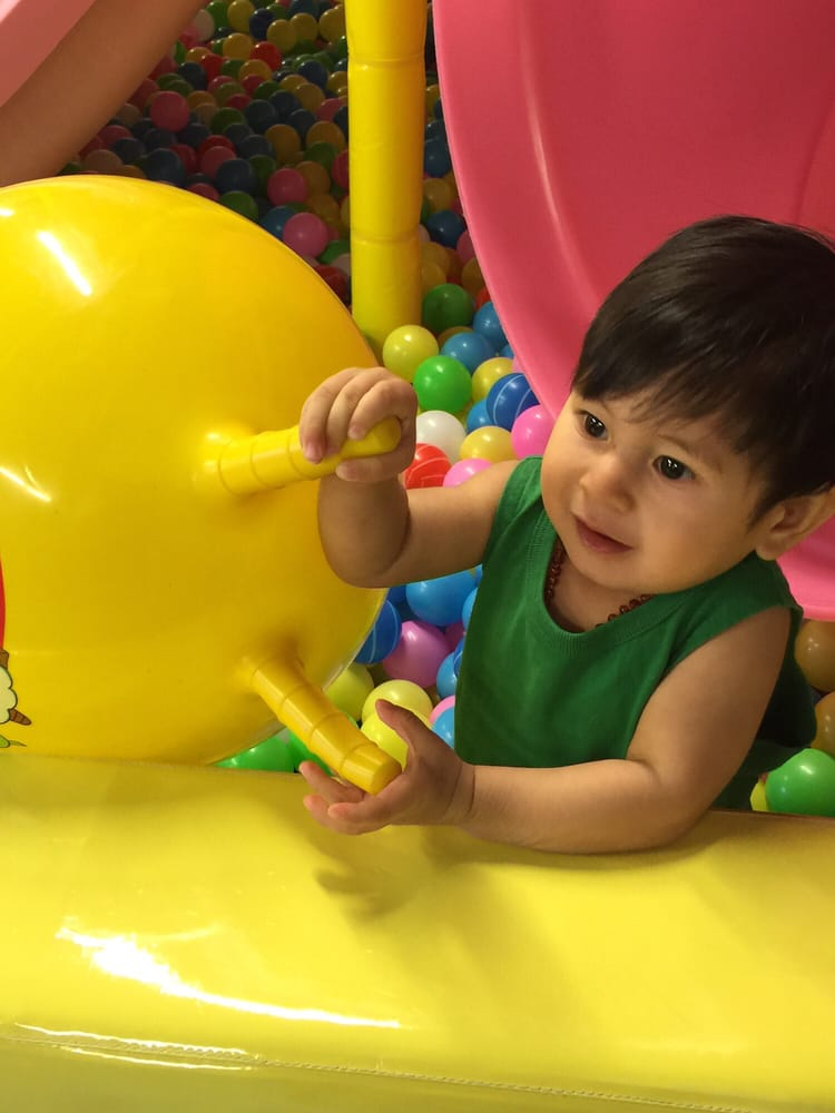 My boy enjoying the ball pit on another occasion yelp for Ball pits near me