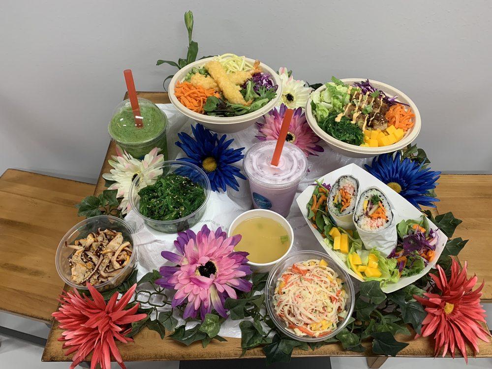 Food from Ohana Poke Bowl