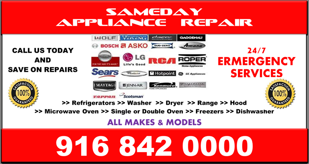 sameday appliance repair appliances 2701 del paso rd natomas sacramento ca phone number yelp