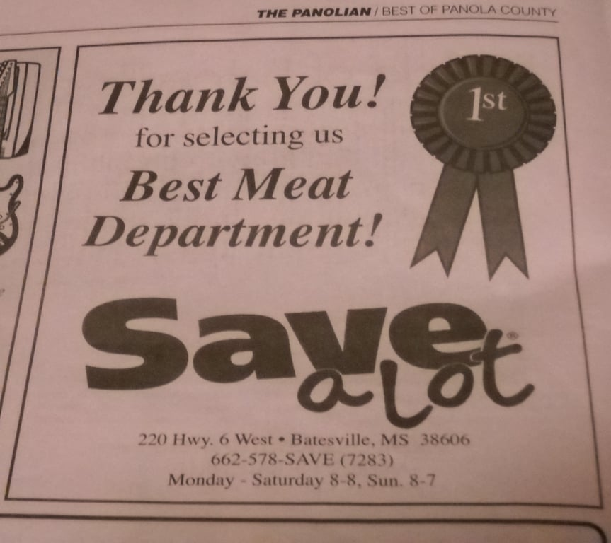 Save-Alot: 220 Hwy 6 W, Batesville, MS
