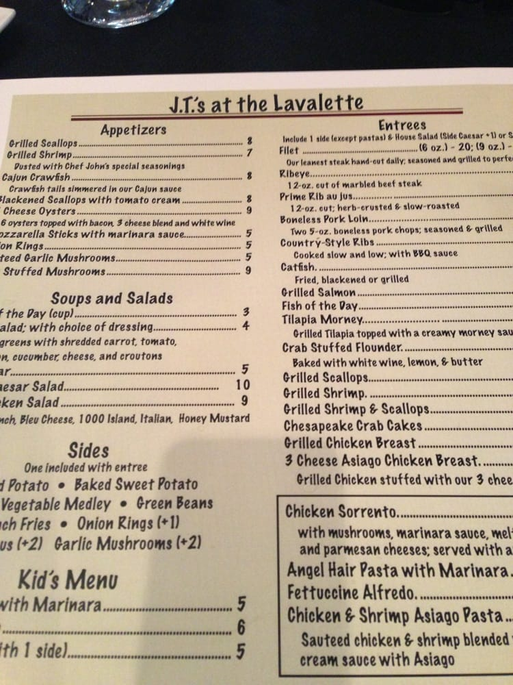 JT's At The Lavalette: 415 S Main St, Gretna, VA