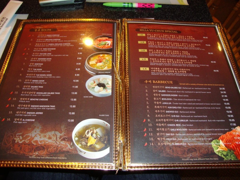 Silla Restaurant Aurora Co Menu