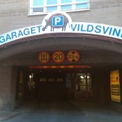 P Garaget Vildsvinet Parkplatz Parkhaus Alva Myrdals Gata 8