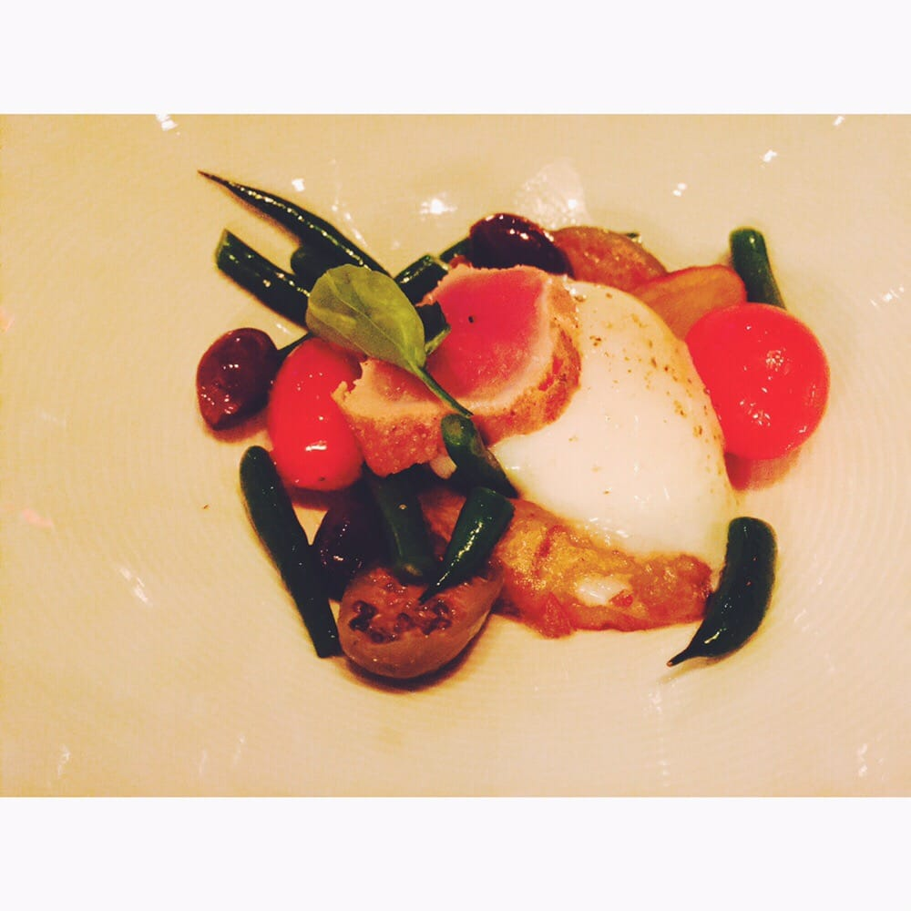Divina Cucina Yelp : Poached egg seared tuna olives tomatoes dragocentro