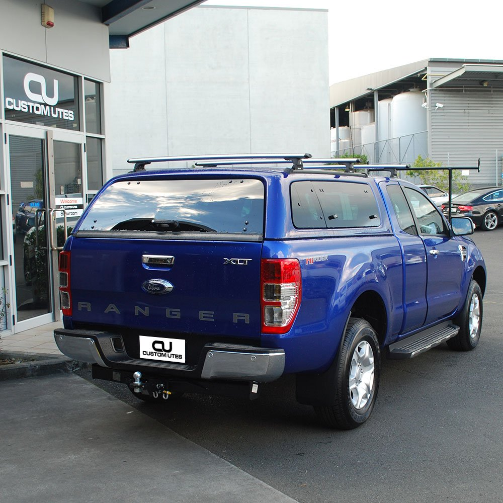 Photo of Custom Utes NZ - Auckland New Zealand. Super Cab Ford Ranger canopy & Super Cab Ford Ranger canopy roof racks and nudge bar / ladder ...