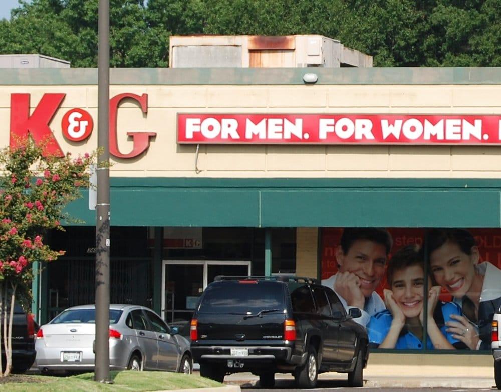 K&g men's clothing store