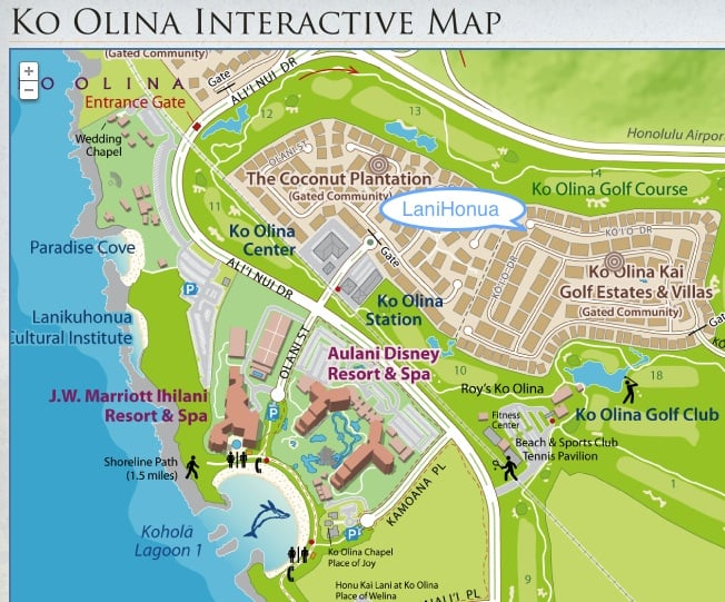 Map Of Lanihonua Ko Olina Villa Rental Yelp: Ko Olina Hotels Map At Slyspyder.com