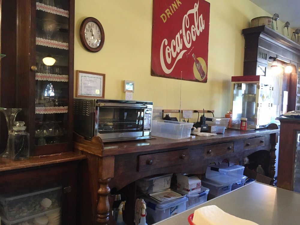 Pioneer Village Soda Fountain: 18817 290th St, Long Grove, IA