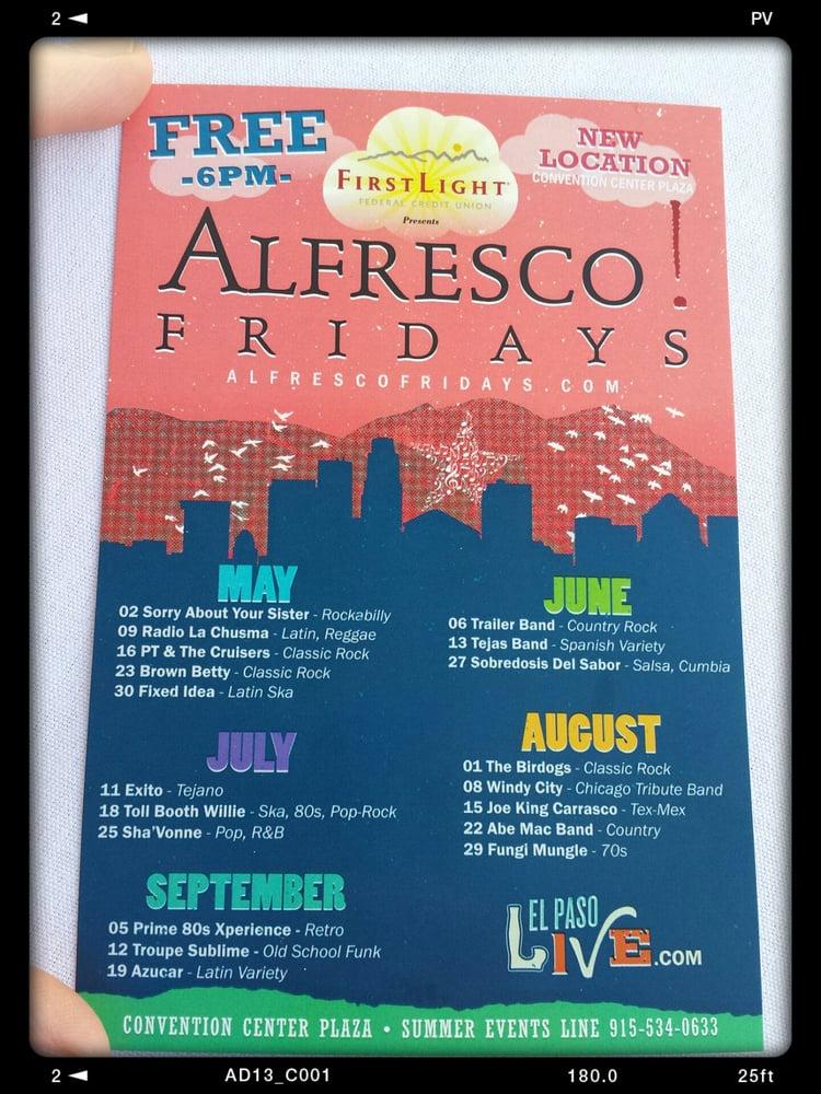 Alfresco! Fridays: 1 Civic Center Plz, El Paso, TX