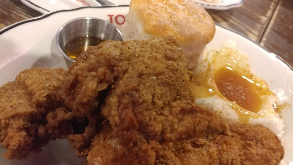 ... States. Northern Fried Chicken with mashed potatoes, gravy and biscuit