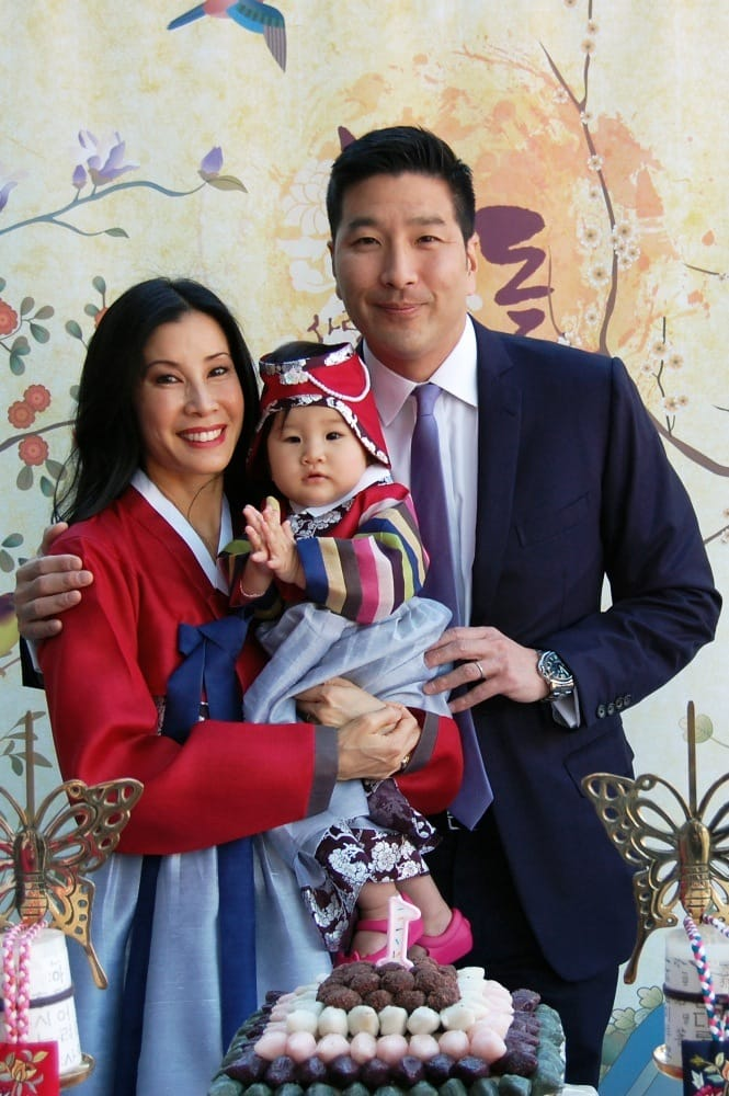 Lisa Ling with husband Paul Song celebrating daughter Jett ...
