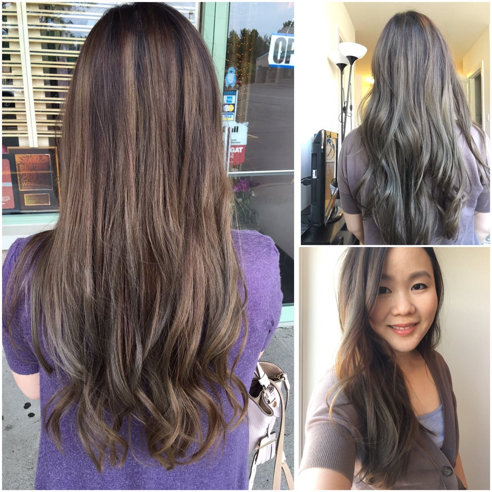 Hair Color And Cut By Hitomi In Both Indoor And Outdoor Lighting Yelp
