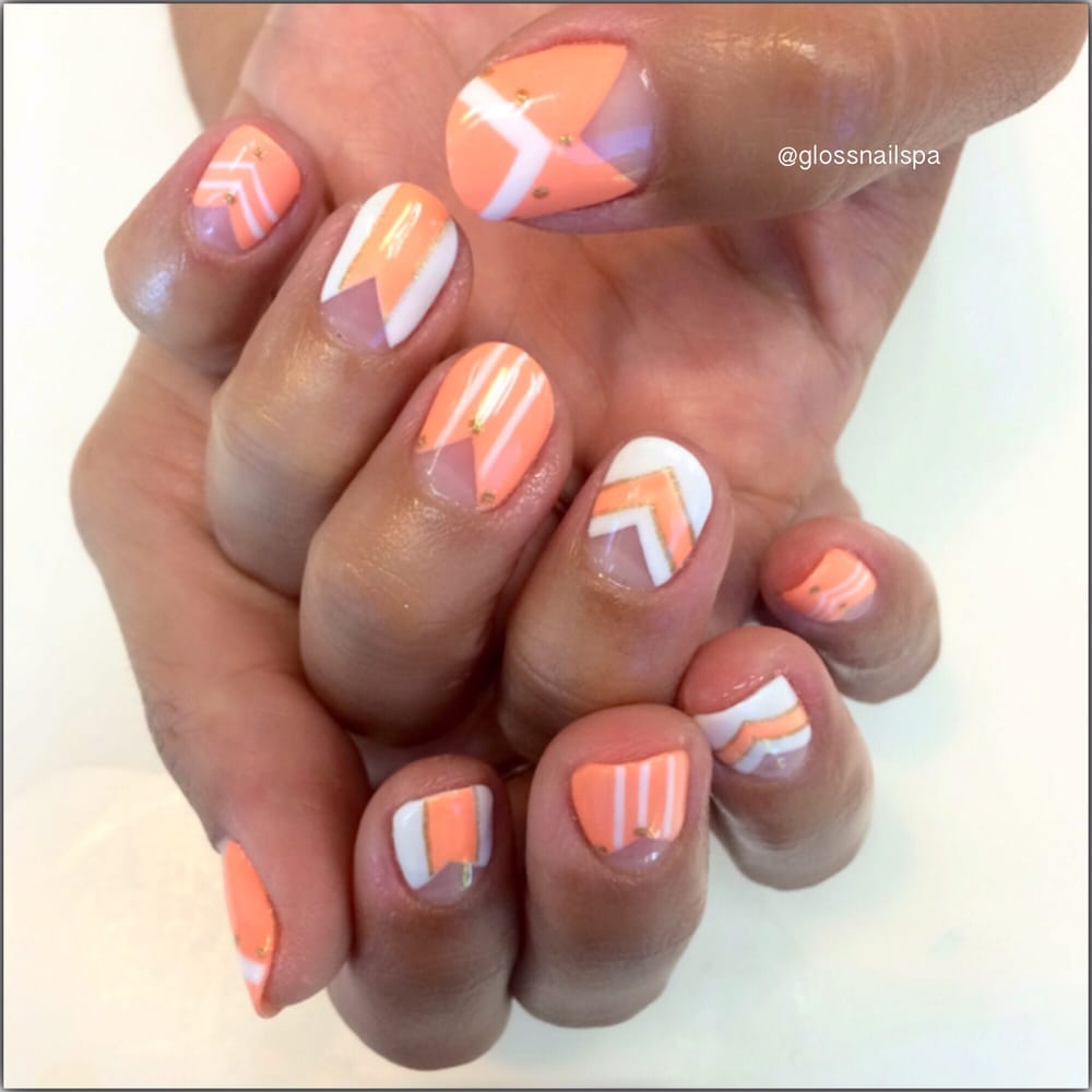Mobile Nail Spa Los Angeles: Negative Space Gel Manicure