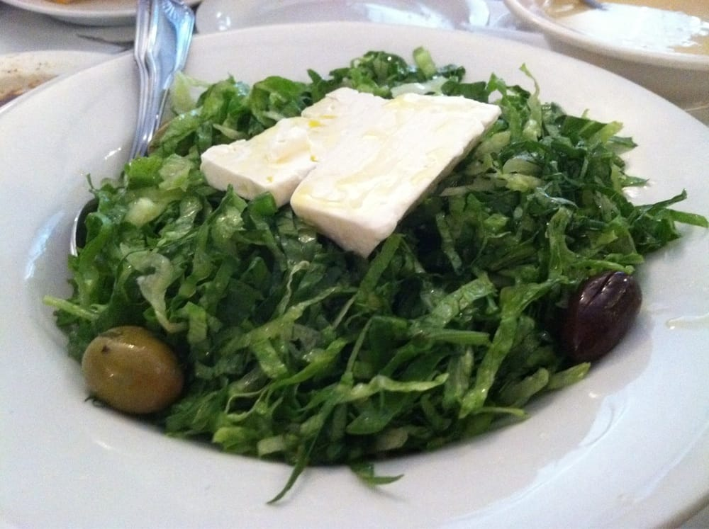 Prasini salad w fresh dill yelp for Authentic greek cuisine