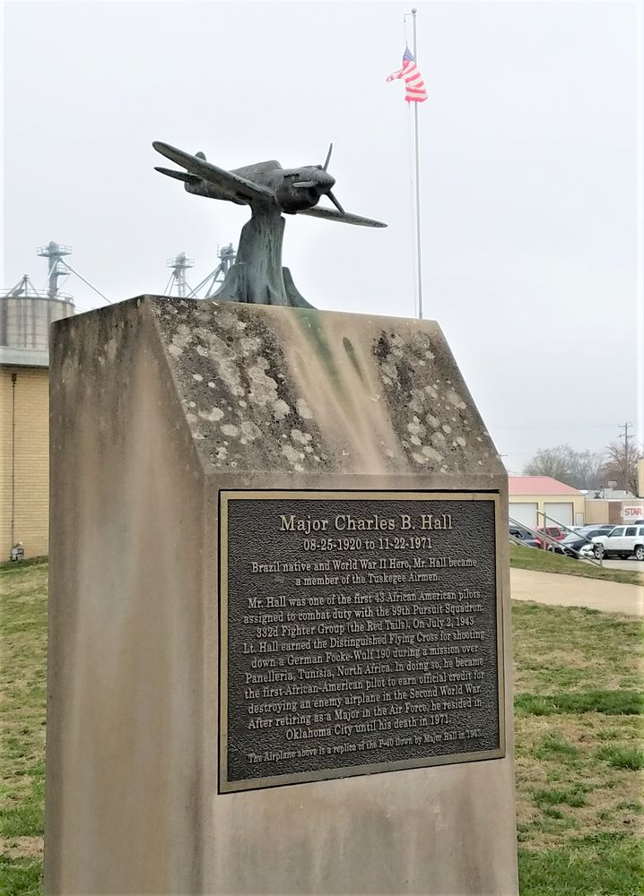 Major Charles B Hall Monument: 175 E National Ave, Brazil, IN