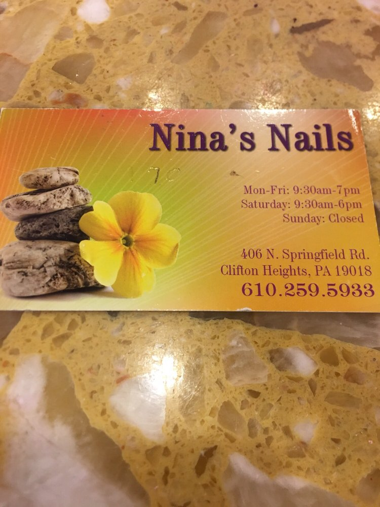 Nina Nails: 406 N Springfield Rd, Clifton Heights, PA