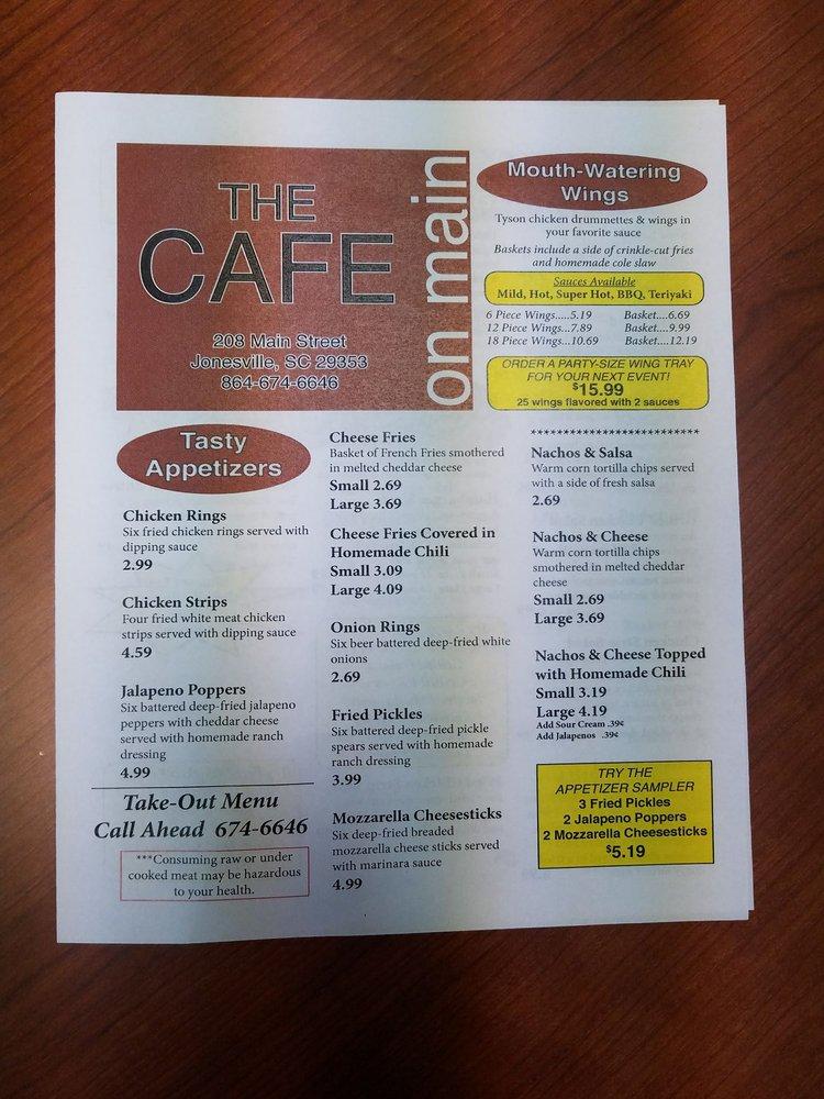 The Cafe: 208 S Main St, Jonesville, SC