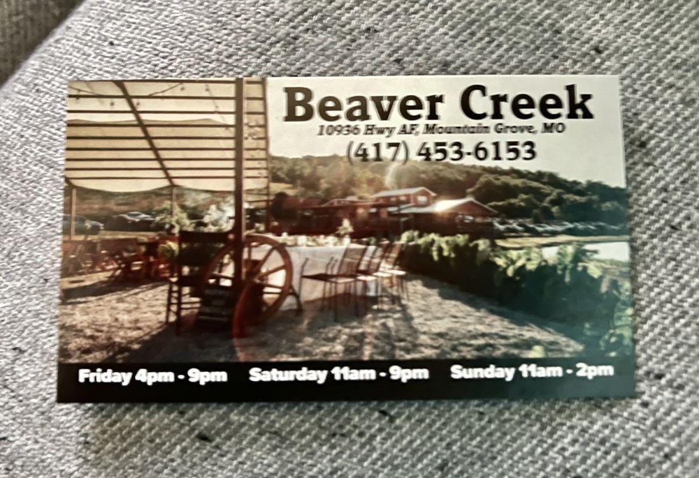 Beaver Creek Steak: 10936 Hwy Af, Mountain Grove, MO