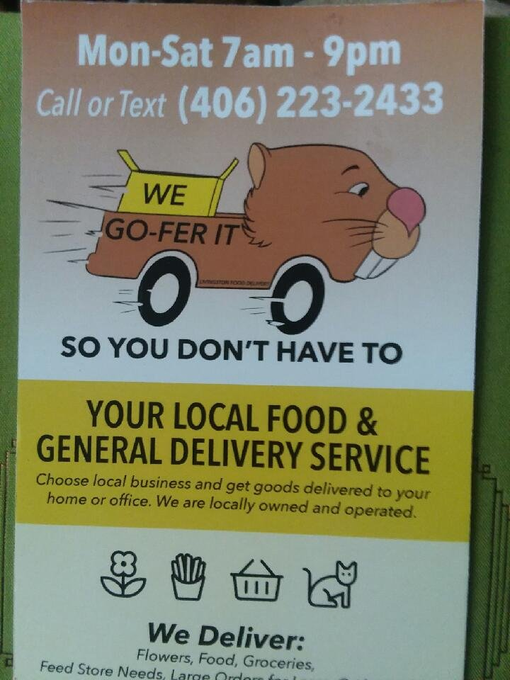 Go-Fer It And Livingston Food Delivery: Livingston, MT