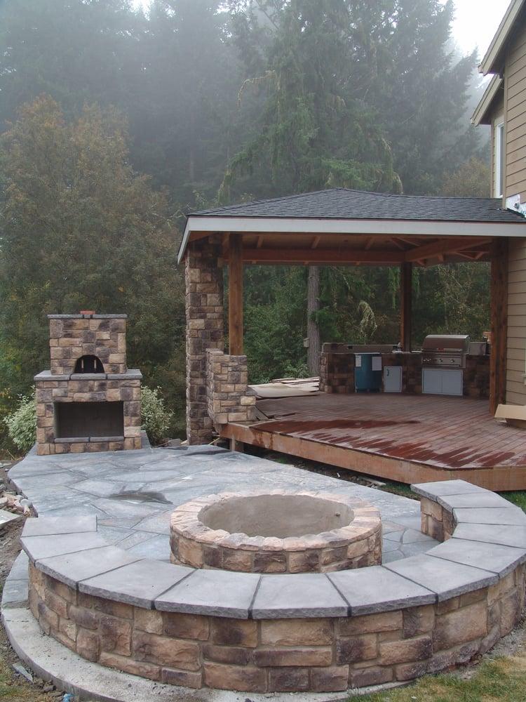 outdoor living, outdoor kitchen, outdoor fireplace, pizza ... on Covered Outdoor Kitchen With Fireplace id=20930
