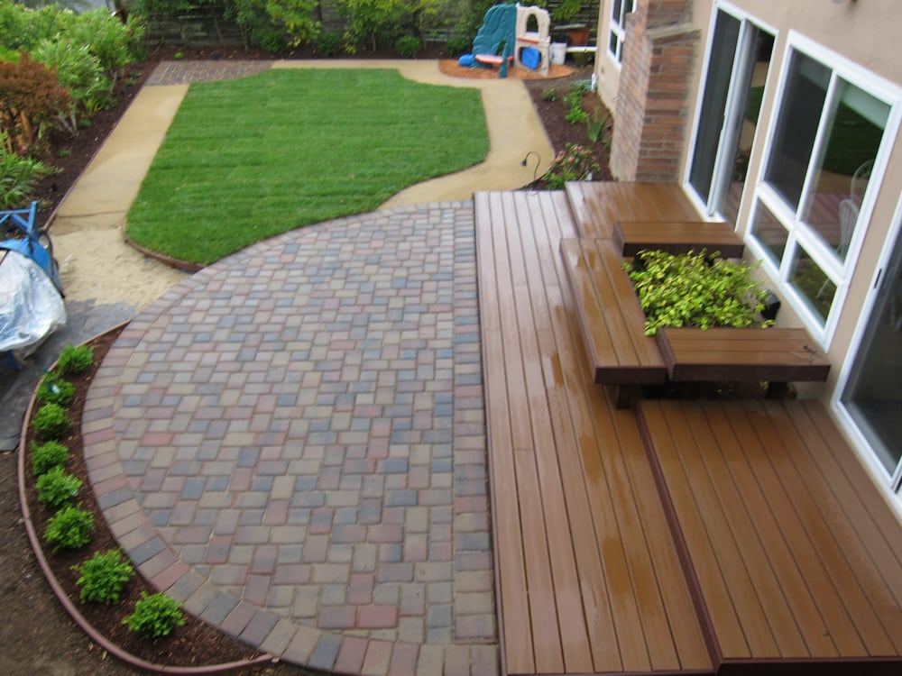 patio pavers over concrete. Photo Of Designed Landscaping - San Mateo, CA, United States. Grandchildren Wanted A Patio Pavers Over Concrete C