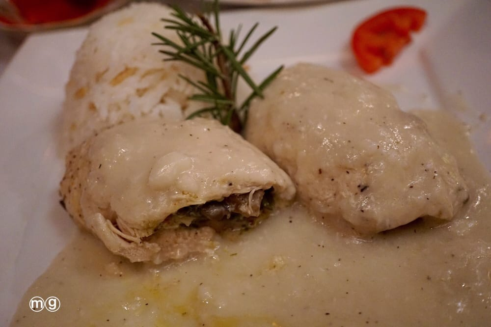 Chicken stuffed with mushrooms with coconut sauce only for Anatolia turkish cuisine
