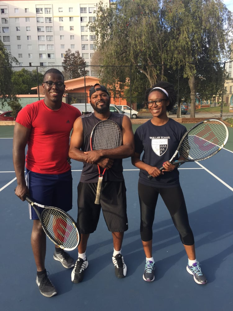 Photo of Tennis Lessons By Mcclain - San Francisco, CA, United States. Temidayo and Abisola