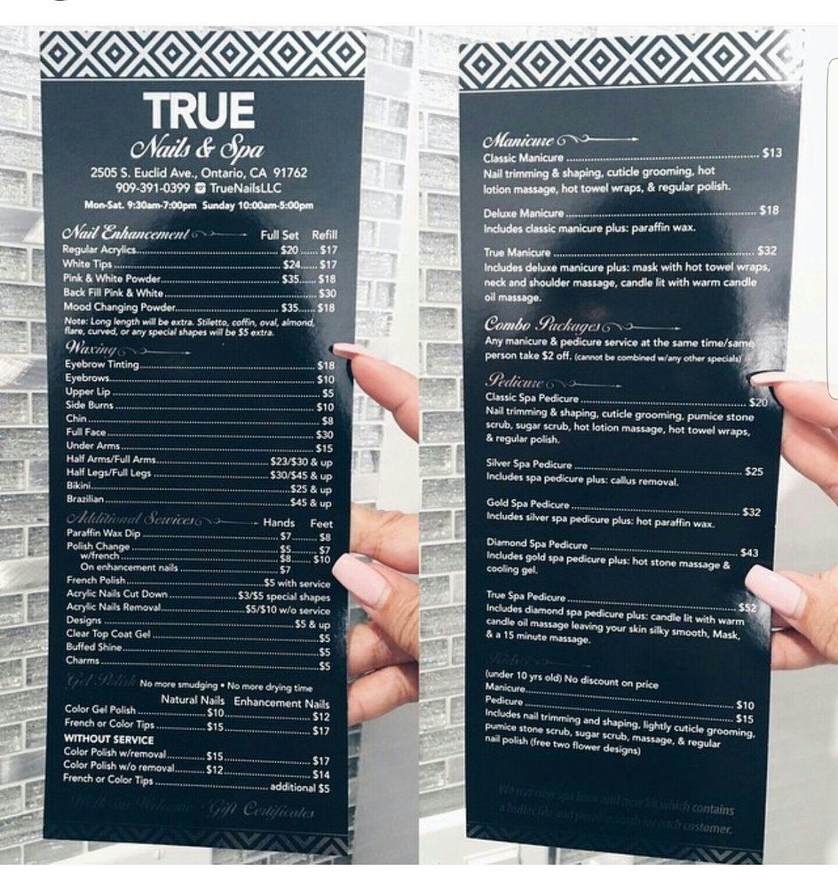 True Nails Spa Ontario Ca