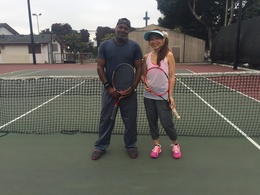 Tennis Lessons By Mcclain - San Francisco, CA, United States. coach McClain and Lesley visiting from Melbourne Australia