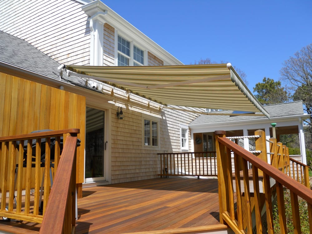 Roof mounted folding lateral arm awning - Yelp