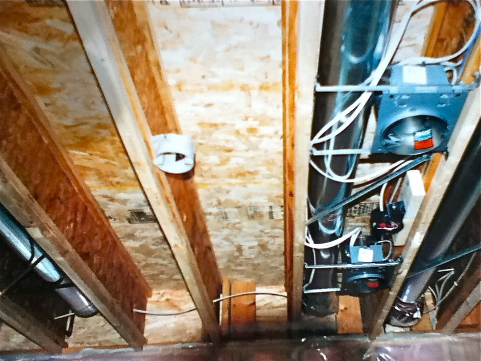 Many Empty Joists Available For Fan Amp Even Spacing Of