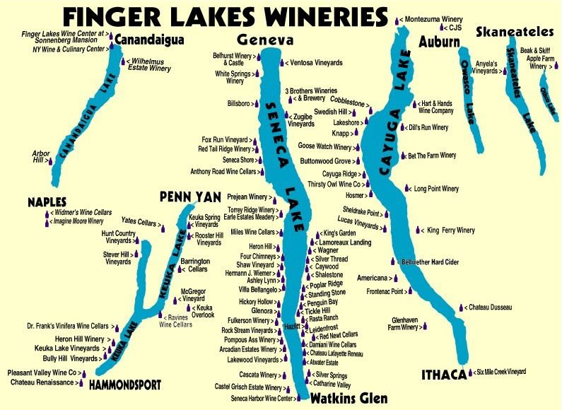 Map of Finger Lakes Wineries - Yelp