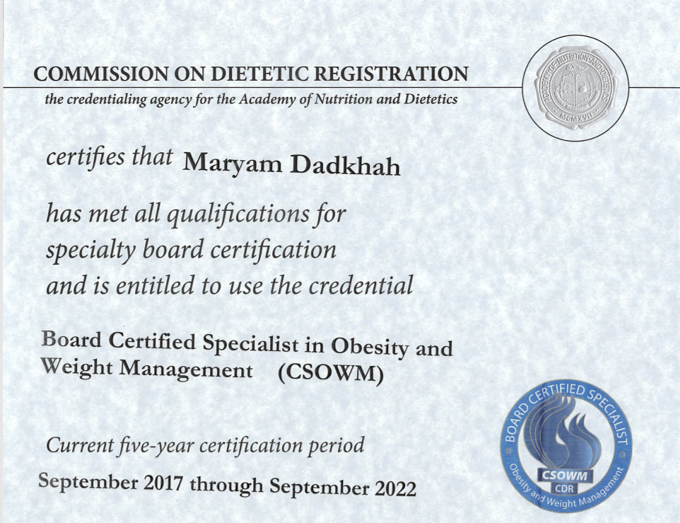 Board Certified Specialist In Obesity And Weight Management Vienna
